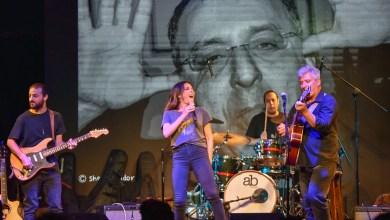 שרון חזיז ולהקה בטרמינל 4. צילום יובל אראל