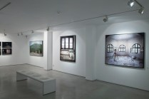 Yuval Yairi I Surveyor I Installation view I (from left to right) 2 images from Codes (Basalt & No-Fly Zone) I Surveyor I Topographic Study I Eastern Gust