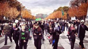 """Million Mask March"" November 5, 2013 in Washington, DC"
