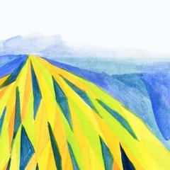「山」をモチーフとした挿絵