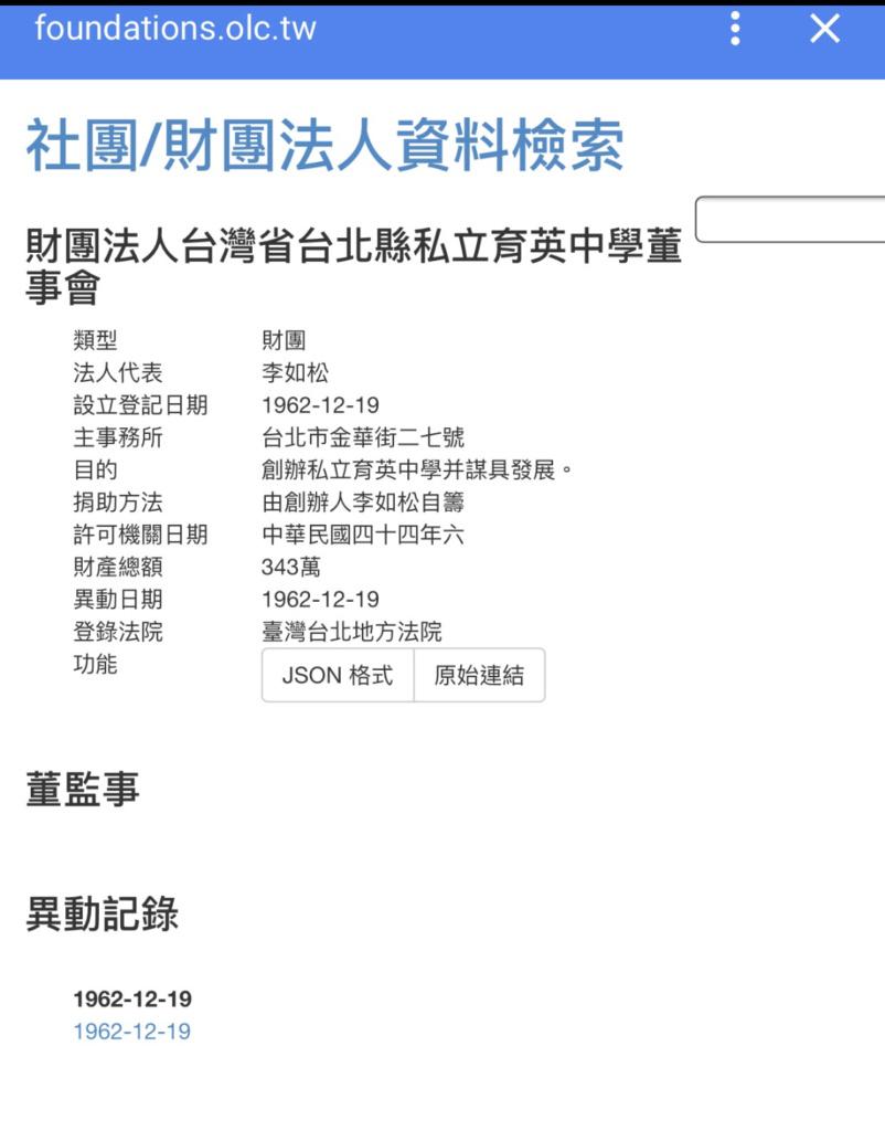 臺北北投私立育英中學成立 – 育英學校 Yuying Academy