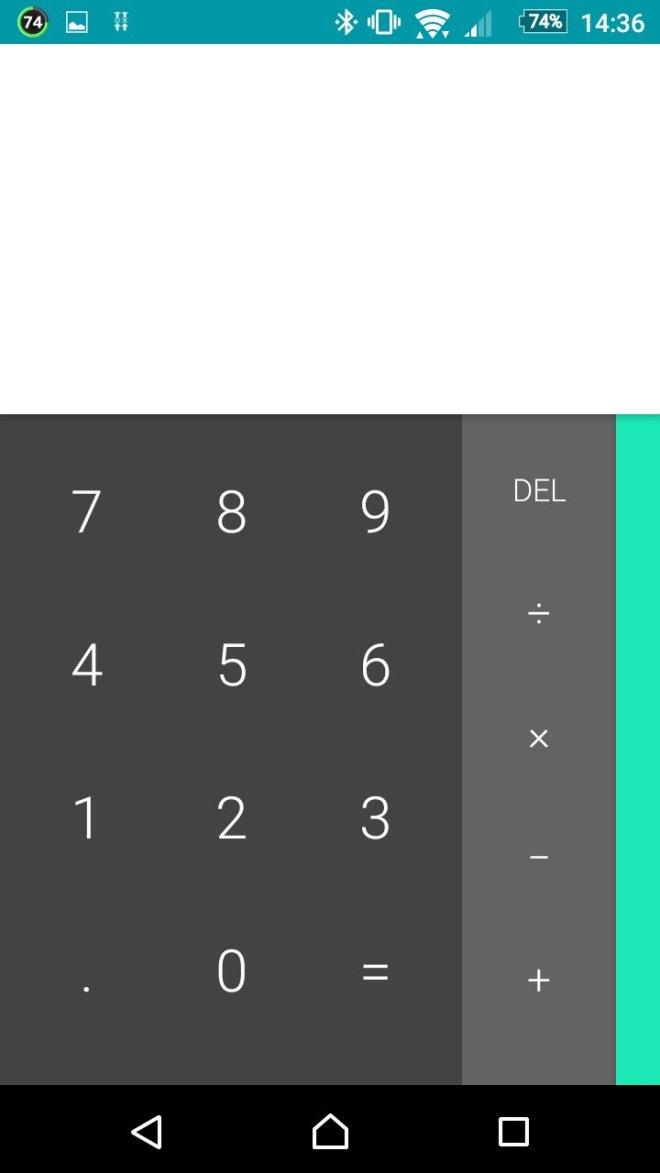 ソニー製の電卓アプリ