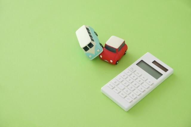 交通事故と計算機のイラスト