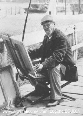 Eugène Boudin (1824-1898), peintre français, précurseur del'impressionnisme