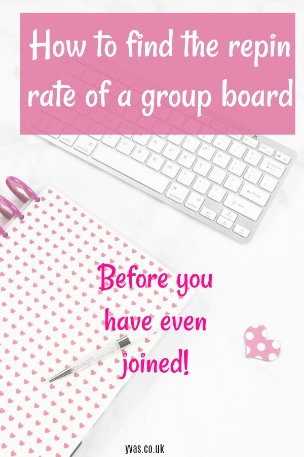 how to find the repin rate of a group board, before you have even joined