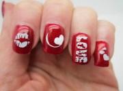 nail design valentines - yve