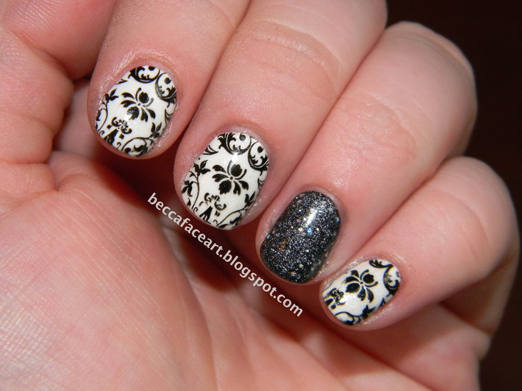 20 Amazing Black and white nail designs  yvestylecom
