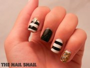 amazing black and white nail