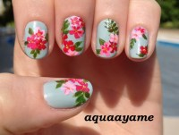 Beautiful pictures with Flower nail designs - Yve Style