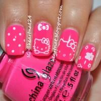 15 pretty Hello Kitty nail designs - yve-style.com