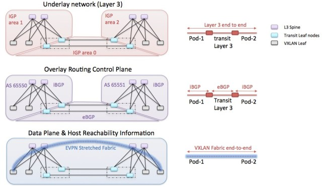 VXLAN multipod stretched fabric advanced 1