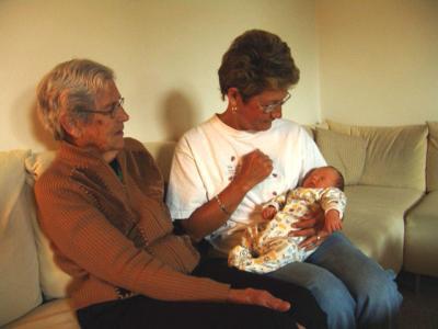 Meine Grosstante Berti aus Amerika und Meine Uroma Grossmueti aus der Schweiz