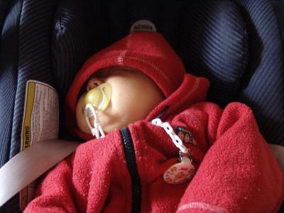 Ich schlafe meistens im Auto