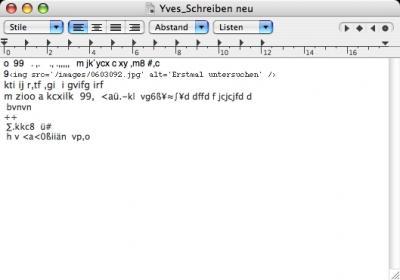 Yves hat seinen zweiten Brief geschrieben