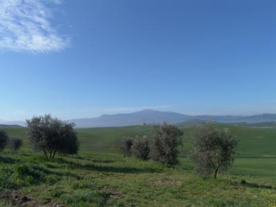 Man kann den Monte Amiata sehen