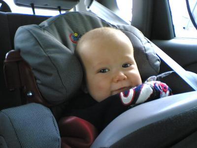 Krümlig warm eingepackt im Auto