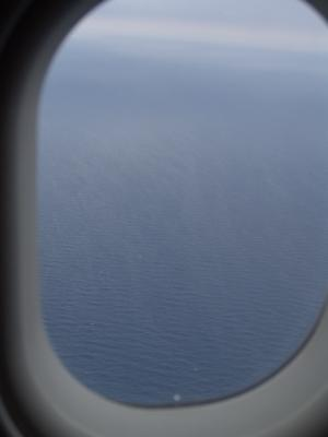 Wow, wir fliegen auch über das Meer!