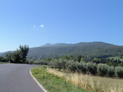Die Gegend um den Monte Cetona ist sehr schön