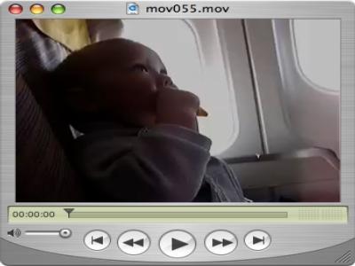 Ein Krümel im Flugzeug
