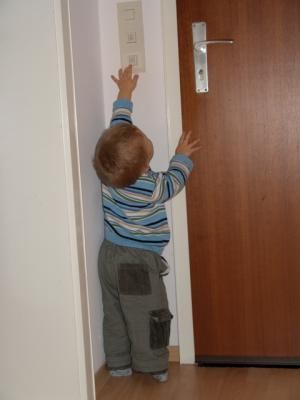 Ich erreiche schon den Türöffner