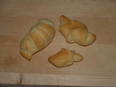 Croissants in Krümel-Grösse