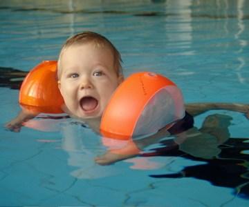 Ein Schwimmkrümel