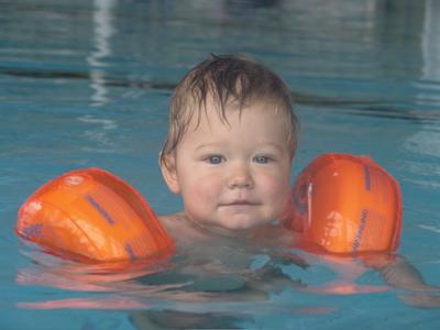 Ein Wuzzler beim Schwimmen