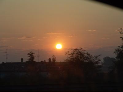 Sonnenaufgang über Modena