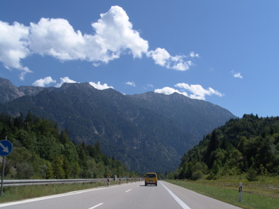 Die Bayrischen Alpen bei Garmisch