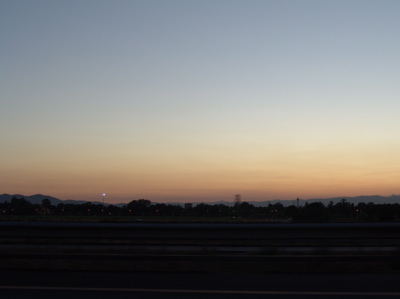 Sonnenuntergang über Firenze