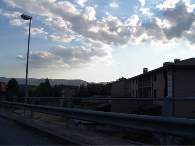 Die Sonne geht unter über Pò Bandino