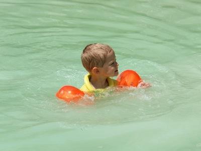 Das Wasser in Bagno Vignoni ist doch etwas kühl