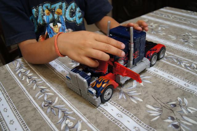Il camion Optimus Prime dei Transformers