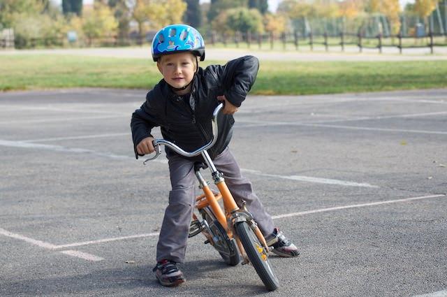 Yves è pronto con la sua bici