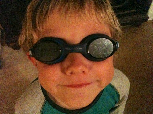 Fonzie è pronto per andare a nuotare