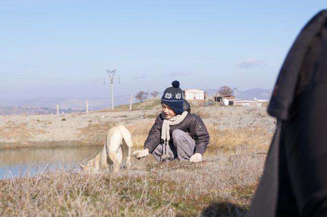Yves fa l'amicizia con i cani