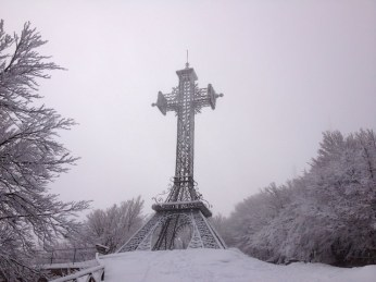 La croce sulla cima dell'Amiata