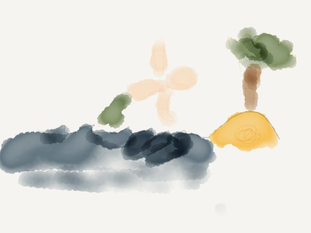 Yves ha disegnato sull'iPad