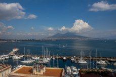 Bella vista del Vesuvio