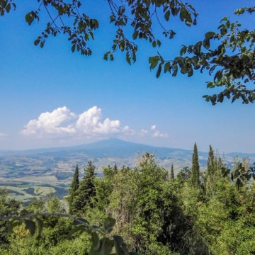 Che bel panorama sulla Val d'Orcia