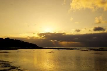 Purtroppo il sole tramonta dietro le nuvole