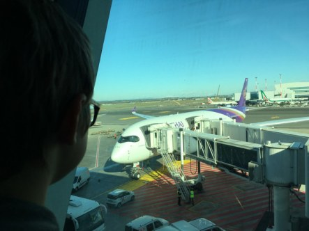 Il nostro aereo finalmente è arrivato