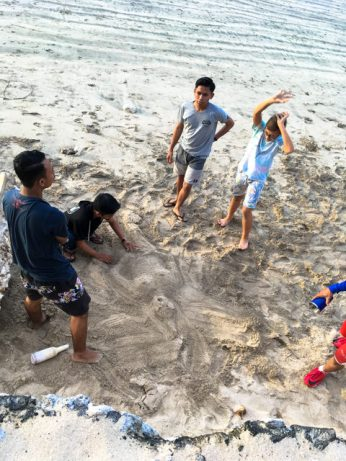 We're building a sand-woman