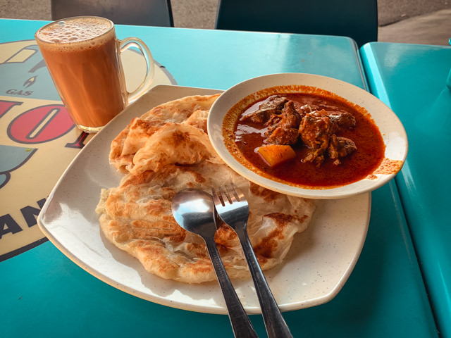 Mutton curry for breakfast