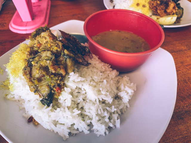 A delicious lunch at the Warung
