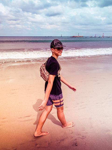 I enjoy walking on the beach