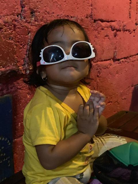 Gayatri loves making jokes with her grandma's sunglasses