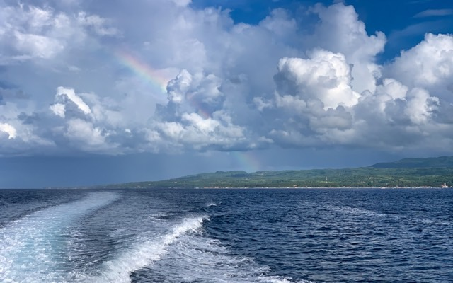 Nusa Penida bids us farewell with a wonderful rainbow...