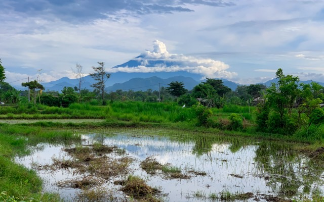 A very nice view of Mount Agung