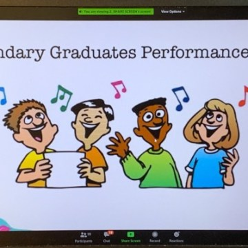 My school's online graduation ceremony